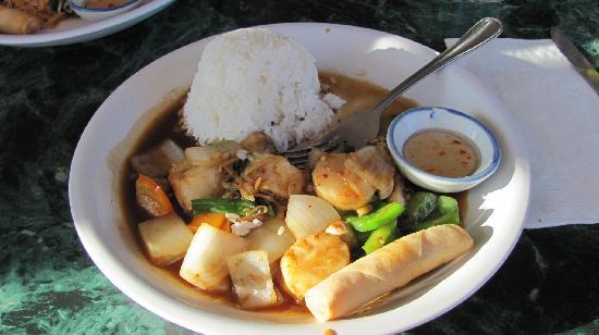 Thai Cuisine Restaurant: scallops/ginger theme/rice