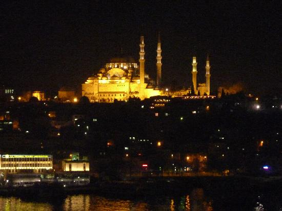 Istanbul Golden City Hotel: view from the roof at night