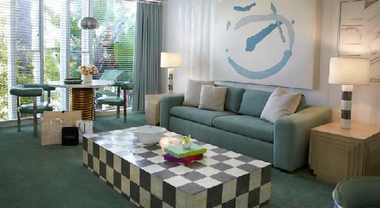 Avalon Hotel Beverly Hills: Avalon One Bedroom Living Room