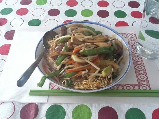 Noodle House: This is Beef Chow Mein, my most favorite meal in PEI!!