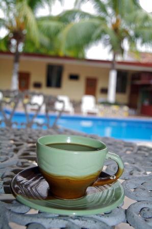 Estancia Mar Dulce: Morning Coffee in the Court Yard