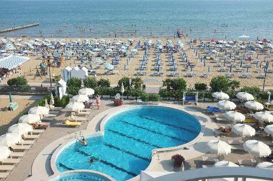 Hotel Galassia: Hotel Galssia*** Jesolo Lido, pisicna spiaggia
