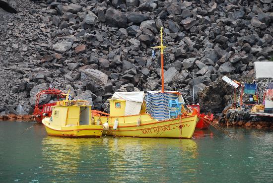 Hotel Rivari: bateau gardien ile sources chaudes