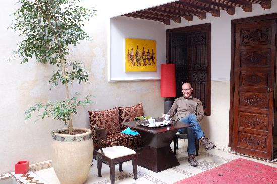 Riad Argan: central courtyard