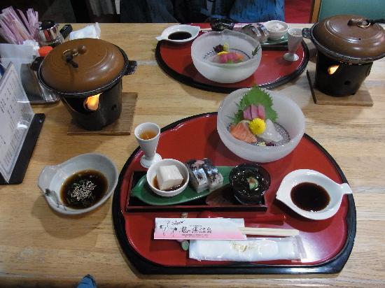 Choei Tsurunoyu Onsen: 夕食の一部