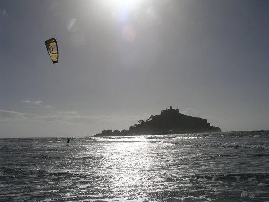Mobius: Kitesurfing down at Marazion