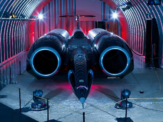 ThrustSSC, the fastest car in the world, is on permanent display at Coventry Transport Museum