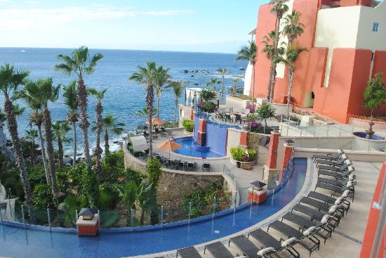 Welk Resorts Sirena Del Mar: View of part of the pool area and the newest addition.
