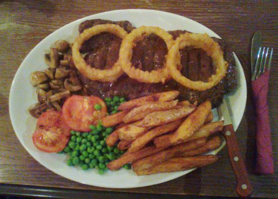 Highwayman Inn: 20 oz Rump Steak Meal is FANTASTIC