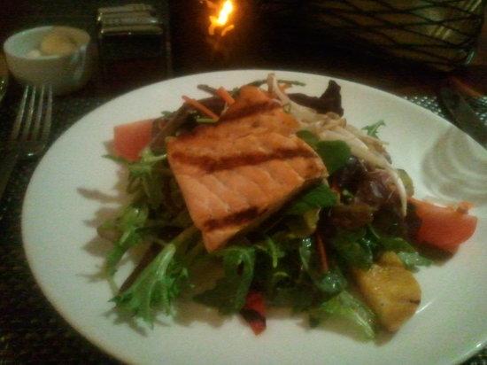 CIRCA 55 Restaurant: Second Course - Salmon Salad