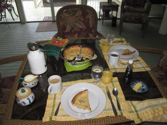 The Ohia House: Breakfast one morning.