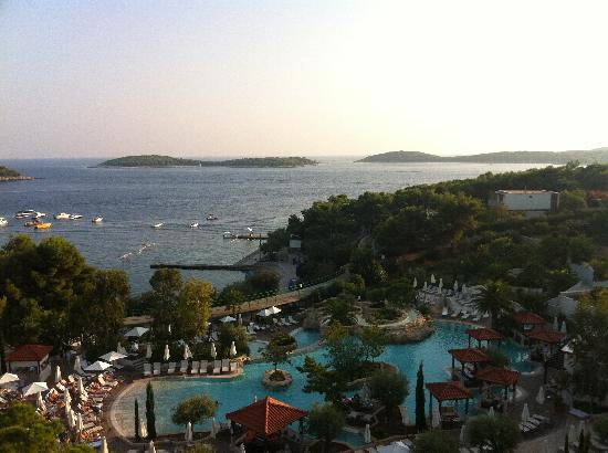 Amfora, hvar grand beach resort: Blick vom Hotel