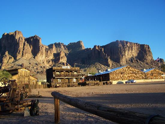 Mining Camp Restaurant: View of the Superstition Mountains