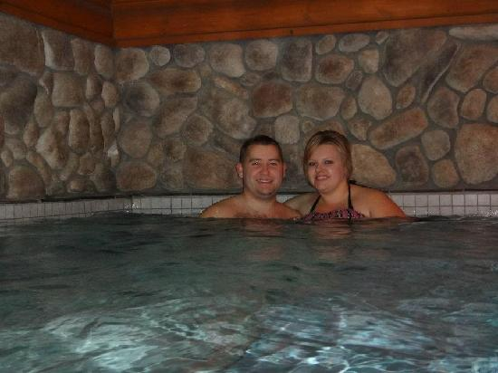 The Lodge at Lolo Hot Springs: Wife and I in the pool.