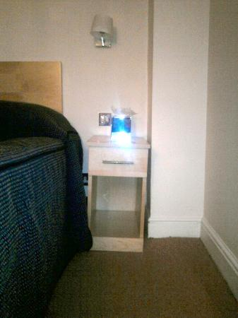 The Rodney Hotel: who need a LEVEL bedside table anyway?