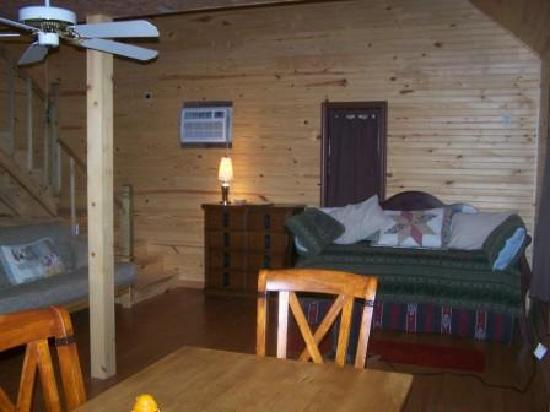 Little Easy Cabins: Cabin First Floor, Daybed (2 twins, create Queen), Full Futon.