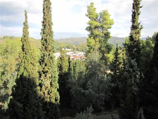 Hotel Antonios: View from our Balcony to Olympia Village