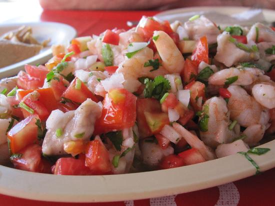 Fish and shrimp ceviche picture of el camello tulum for Shrimp and fish ceviche