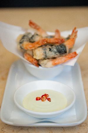 Yumi: Prawn Tempura, green chilli mayo