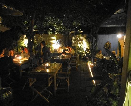 Tables outdoors - Picture of Mandolin Aegean Bistro, Miami ...