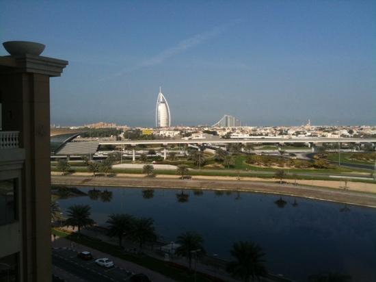 Sheraton Dubai Mall of the Emirates Hotel: view from the breakfast table