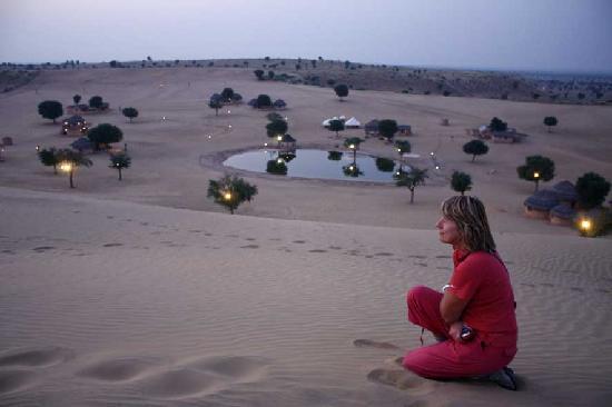 Khimsar, India: Dunes sunset