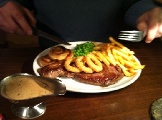 The Hafod Hotel: dinner at the pub local meat on the menu