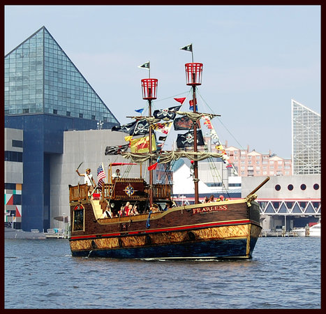 Baltimore, MD: The Fearless sails the Inner Harbor