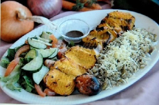 Reyhan Persian Grill: Our famous kabob with specialty rice