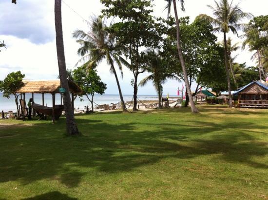 Klong Khong Beach Resort: Prato direttamente sulla spiaggia