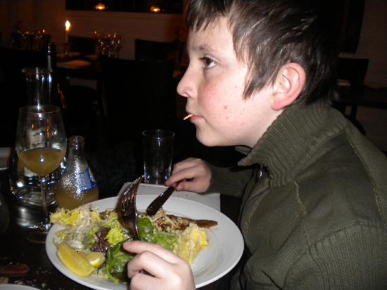 Brasserie Blanche : My son loved his sole meunière