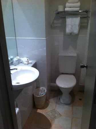 ويبونا هوتل آند كونفرانس سنتر: Toilet and Bathroom Sink