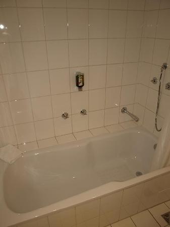 Hotel Am Triller: Salle de bain, partie baignoire et WC