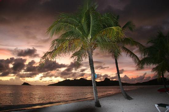 Palm Island Resort & Spa: Sunsets were beautiful - also time for champagne!