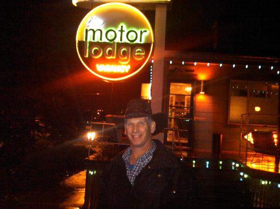 The Motor Lodge: Out front.