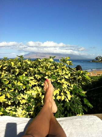 Four Seasons Resort Maui at Wailea: view from my chair