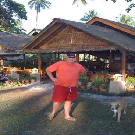 Seaside Cottages & Restaurant : outside the restaurant area