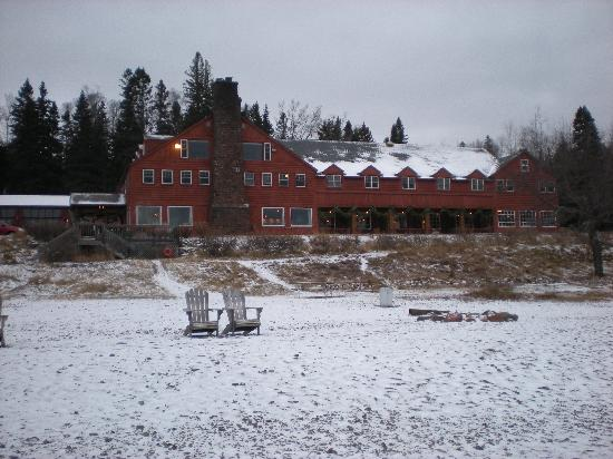 Lutsen Resort on Lake Superior: Main Lodge taken from the beach