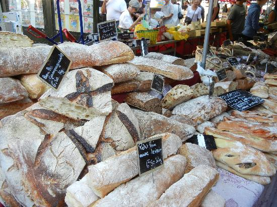 Vieil Aix : Traditional breads on market day, Aix-en-Provence