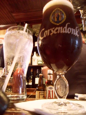 The Snug: Corsendonk Christmas ale, served in its own vessel.