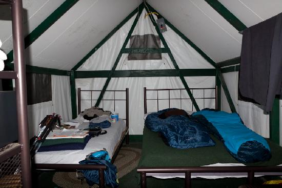 The lodges picture of half dome village yosemite for Half dome tent cabins
