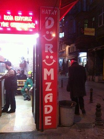 Durumzade: in front of the shop