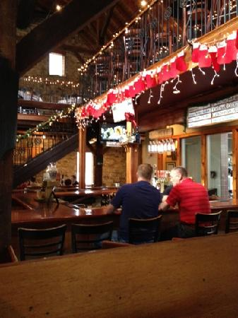 Long Valley Pub and Brewery: the bar and upstairs dining