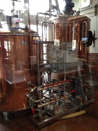 Long Valley Pub and Brewery: brewing equipment. sorry about the reflections.