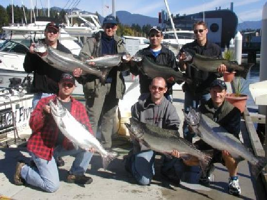 Bites On Salmon Charters: A group of regulars that went home happy
