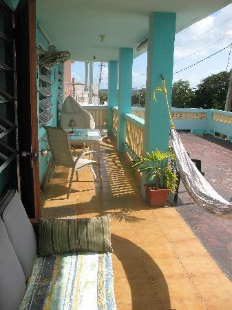 Casa de Kathy: Main balcony with ocean panoramic view