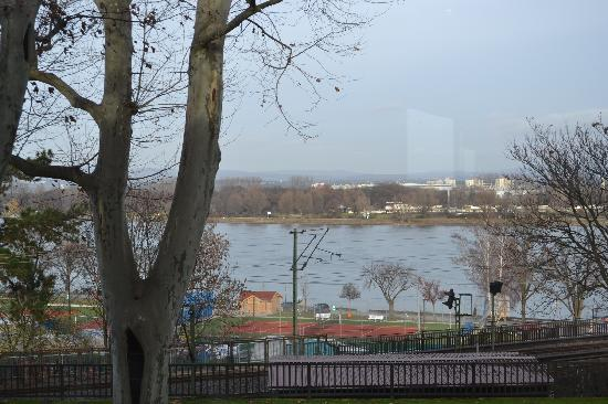 Favorite Parkhotel : View of the Rhine from the dinning room.