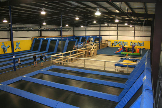 Spring Loaded Trampoline Park