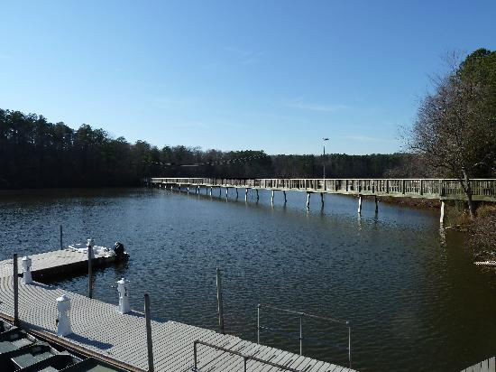 Lake Johnson Park: Pedestrian Bridge at Lake Johnson PK