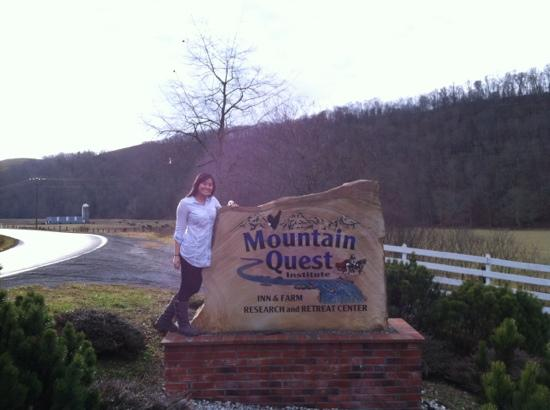 The Inn at Mountain Quest: right outside of the entrance to Mountain Quest